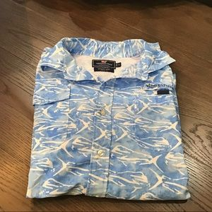 Vineyard Vines Blue Dolphinfish Harbor Shirt
